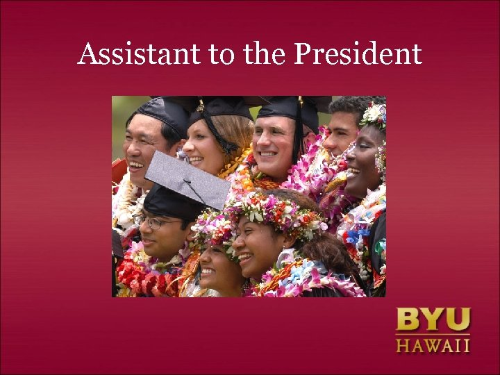 Assistant to the President