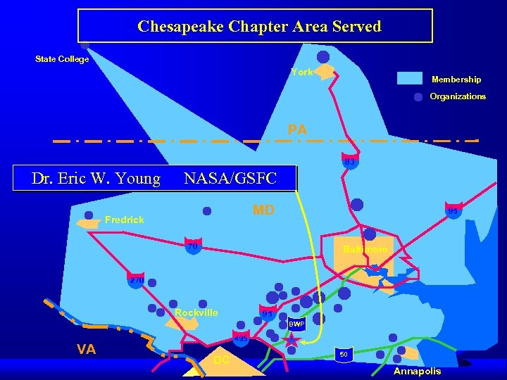 Chesapeake Chapter Area Served State College York Membership Organizations PA 83 Dr. Eric W.