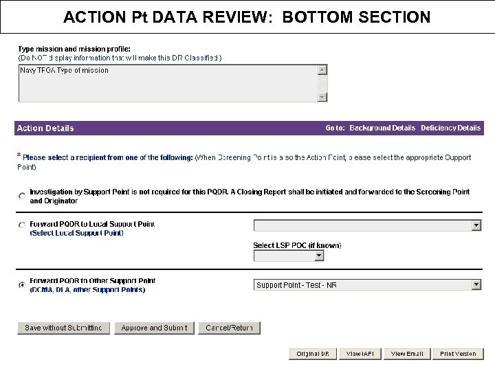 ACTION Pt DATA REVIEW: BOTTOM SECTION