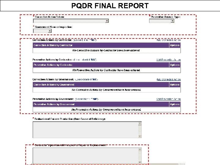 PQDR FINAL REPORT