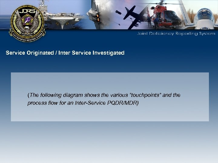 """Service Originated / Inter Service Investigated (The following diagram shows the various """"touchpoints"""" and"""