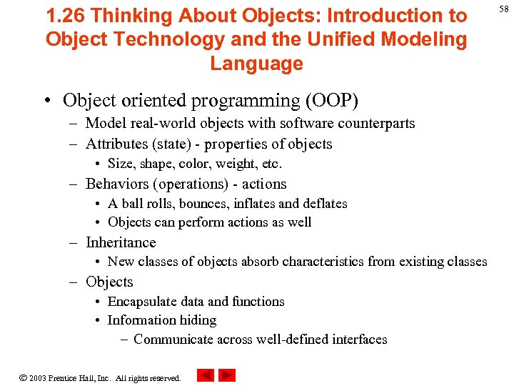 1. 26 Thinking About Objects: Introduction to Object Technology and the Unified Modeling Language