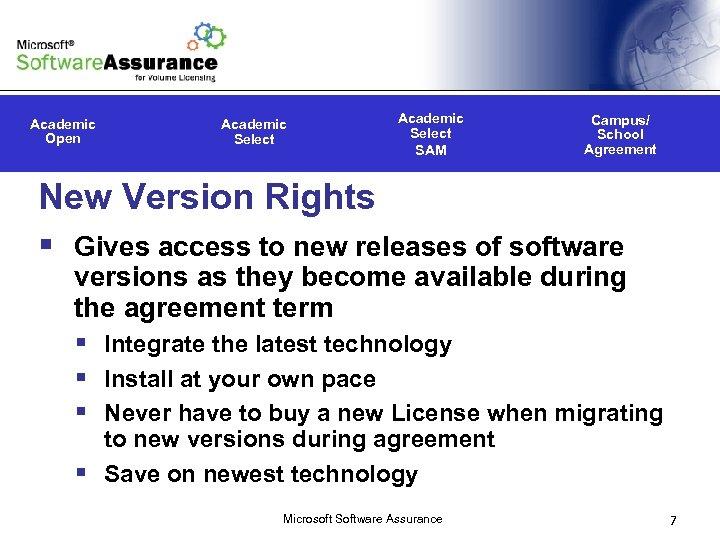 Microsoft Software Assurance For Academic Licensing Programs Microsoft