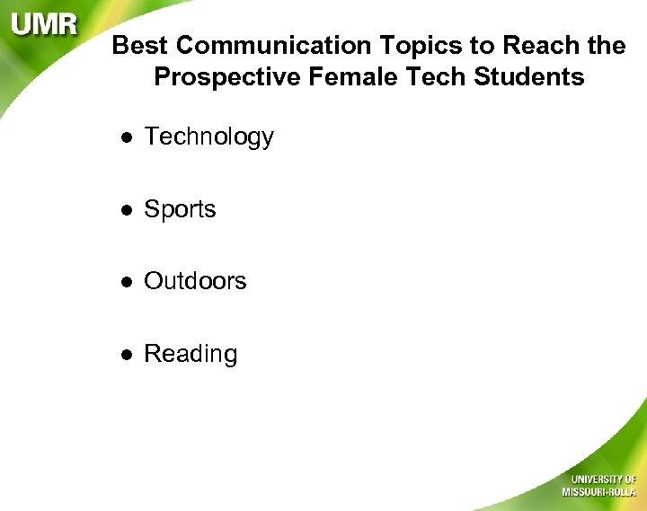 Best Communication Topics to Reach the Prospective Female Tech Students l Technology l Sports
