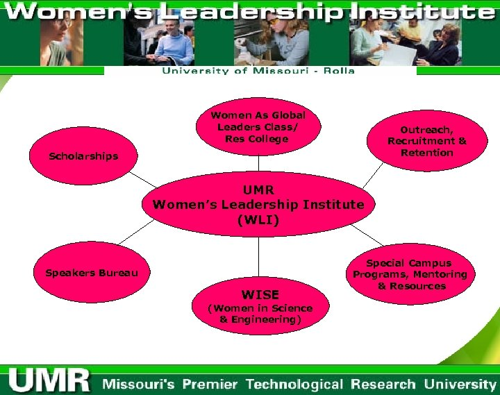 Women As Global Leaders Class/ Res College Outreach, Recruitment & Retention Scholarships UMR Women's