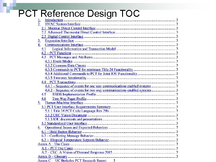 PCT Reference Design TOC