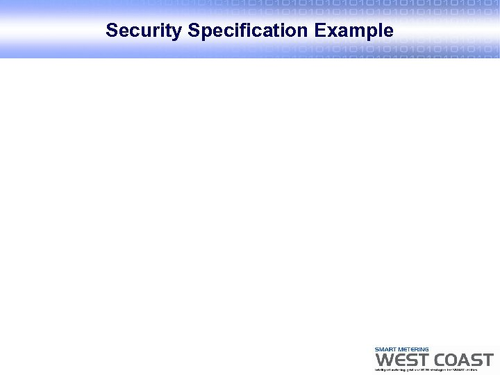 Security Specification Example
