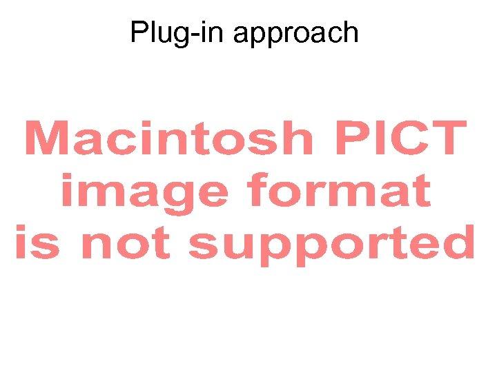 Plug-in approach
