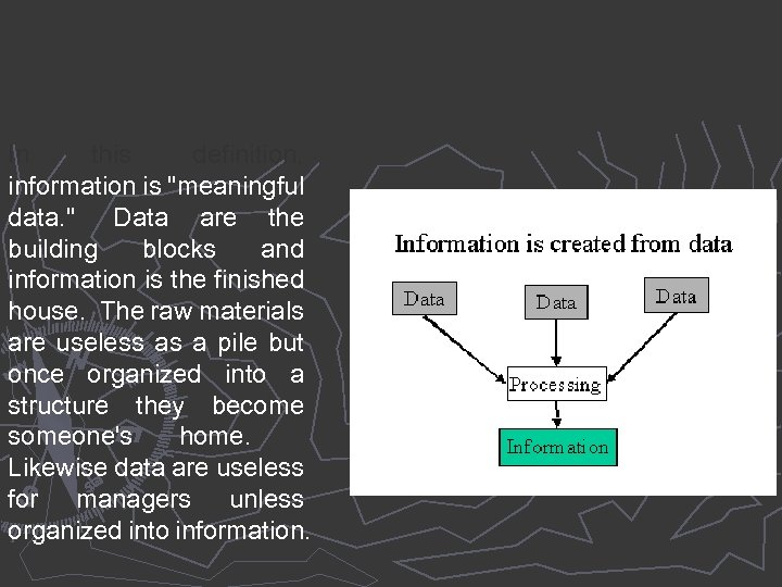In this definition, information is