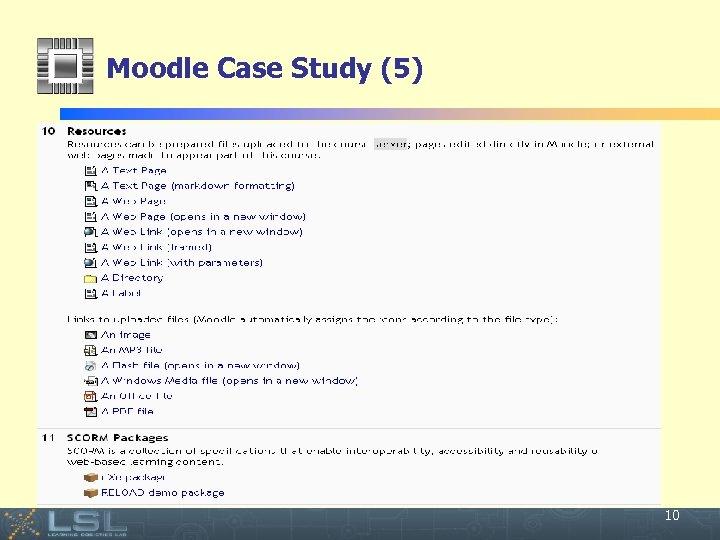 Moodle Case Study (5) Event 10