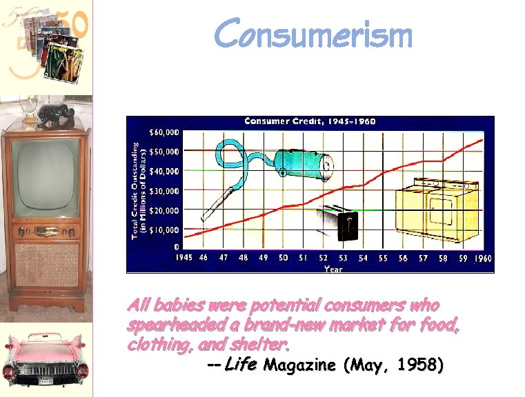 Consumerism All babies were potential consumers who spearheaded a brand-new market for food, clothing,