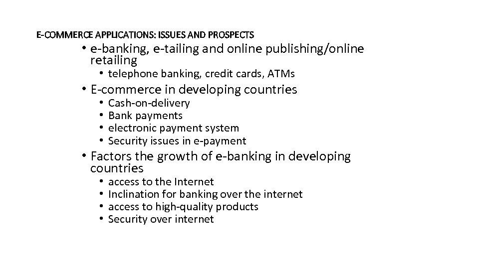 Bca 3005 E Commerce And Applications Dr B B