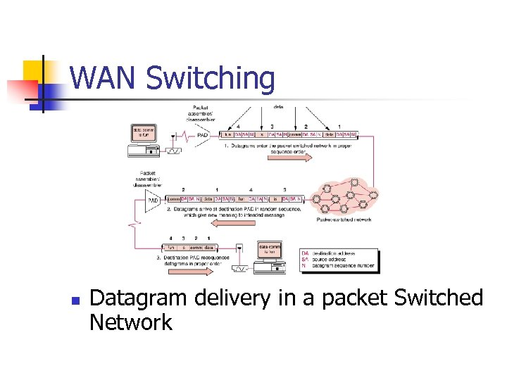 WAN Switching n Datagram delivery in a packet Switched Network