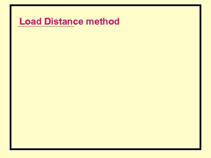Load Distance method