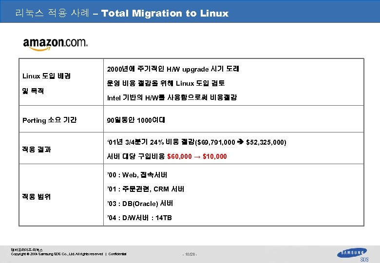 리눅스 적용 사례 – Total Migration to Linux 도입 배경 및 목적 Porting 소요