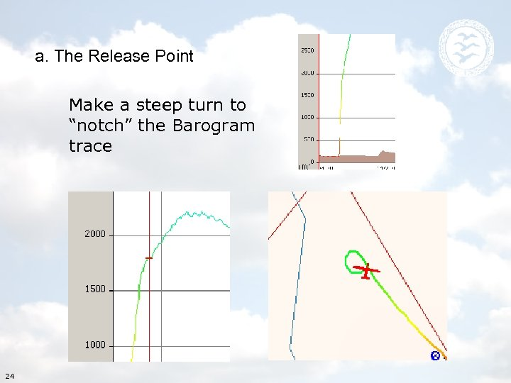 """a. The Release Point Make a steep turn to """"notch"""" the Barogram trace 24"""