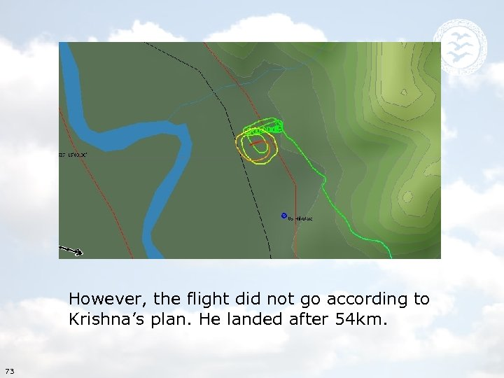 However, the flight did not go according to Krishna's plan. He landed after 54