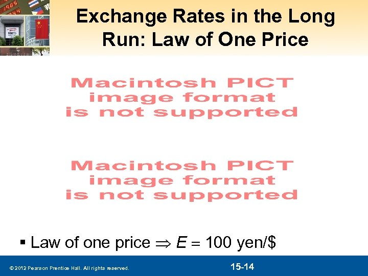 Exchange Rates in the Long Run: Law of One Price § Law of one