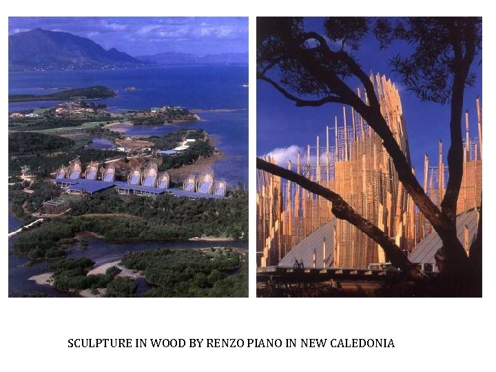 SCULPTURE IN WOOD BY RENZO PIANO IN NEW CALEDONIA