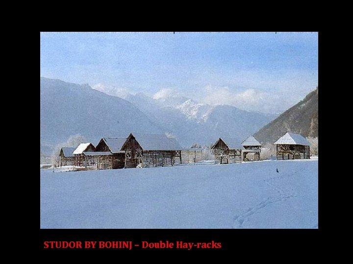 STUDOR BY BOHINJ – Double Hay-racks