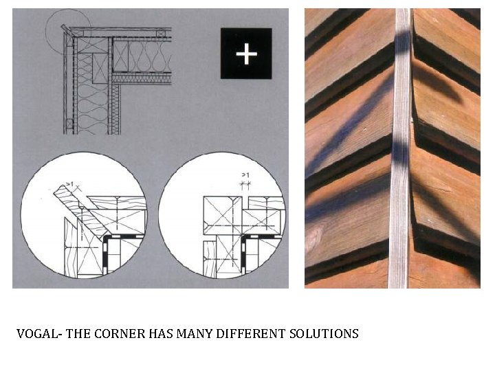 VOGAL- THE CORNER HAS MANY DIFFERENT SOLUTIONS