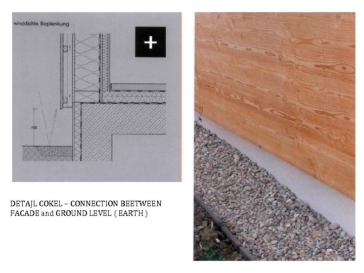 DETAJL COKEL – CONNECTION BEETWEEN FACADE and GROUND LEVEL ( EARTH )