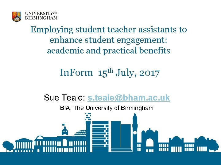 Employing student teacher assistants to enhance student engagement: academic and practical benefits In. Form