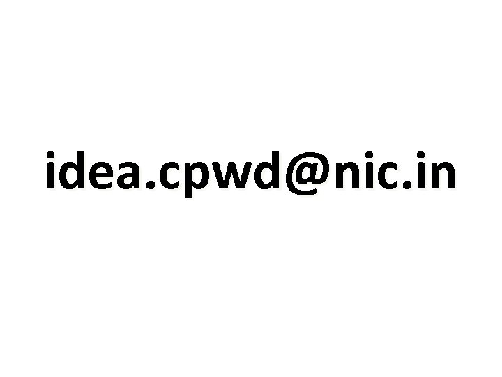 idea. cpwd@nic. in