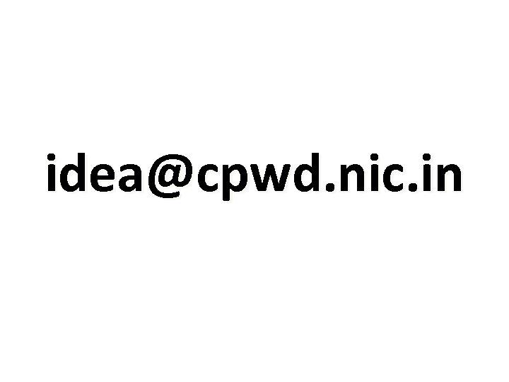 idea@cpwd. nic. in