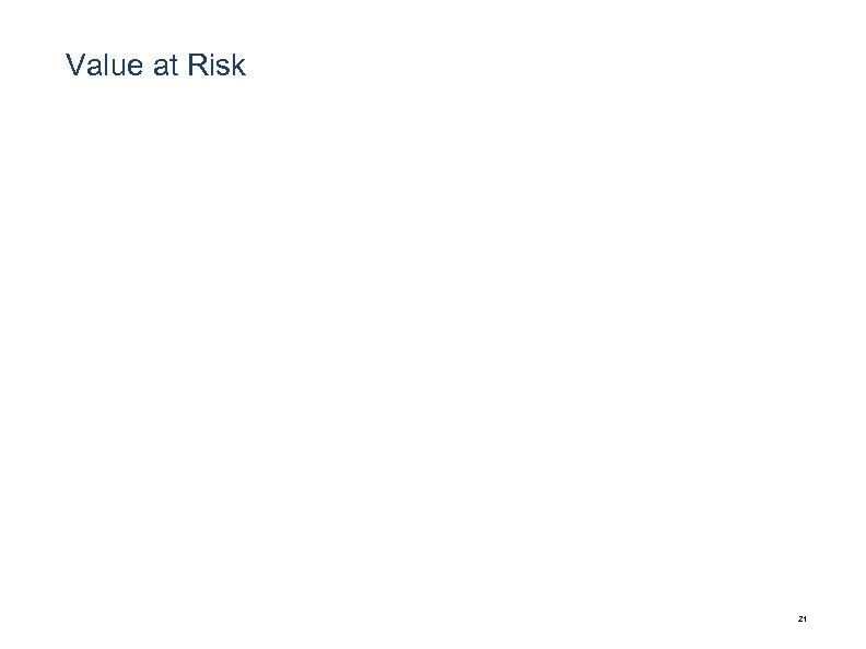 Value at Risk 21