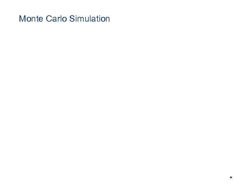 Monte Carlo Simulation 36