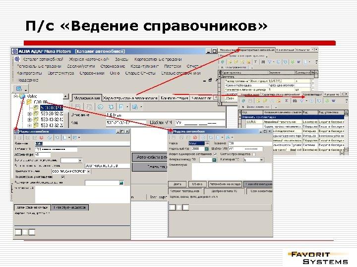 П/с «Ведение справочников»