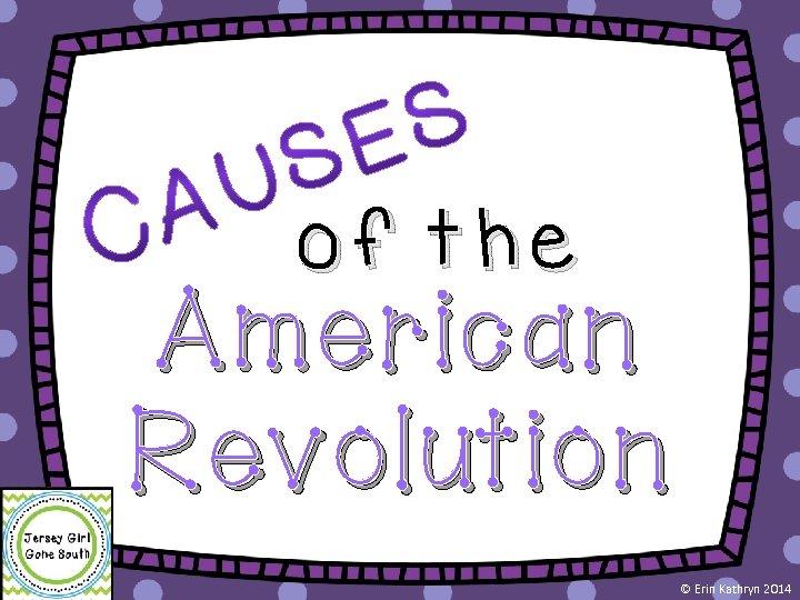 of the American Revolution © Erin Kathryn 2014