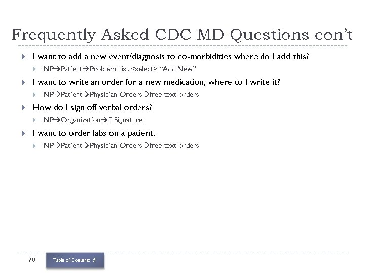 Frequently Asked CDC MD Questions con't I want to add a new event/diagnosis to
