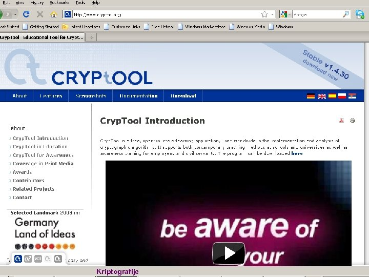 Cryp. Tool Web n Kriptografije Slide 7 of 97