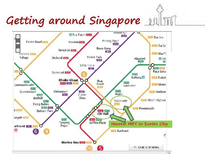 Getting around Singapore Nearest MRT to Suntec City