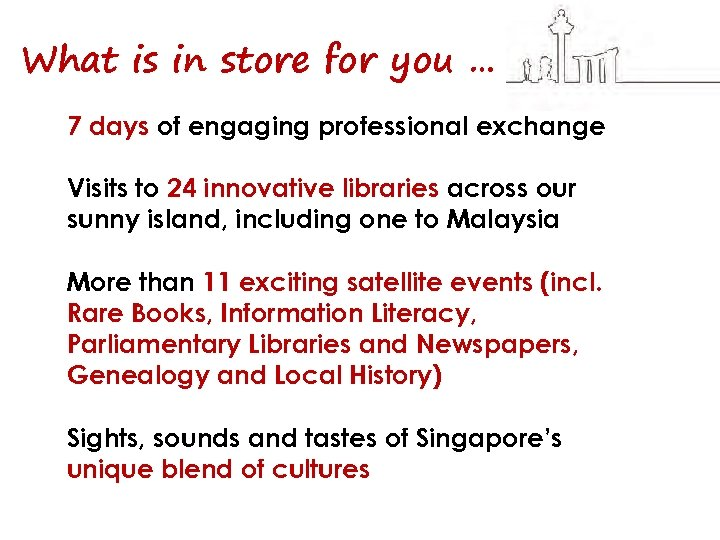 What is in store for you … 7 days of engaging professional exchange Visits