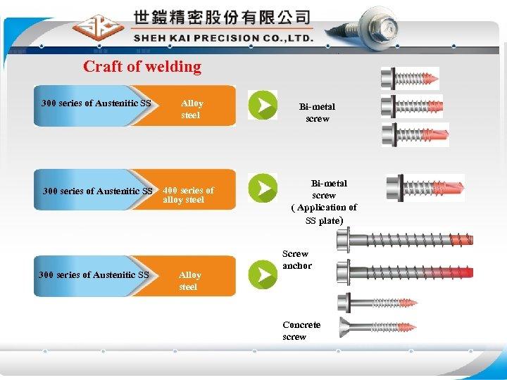 Craft of welding 300 series of Austenitic SS Alloy steel 300 series of