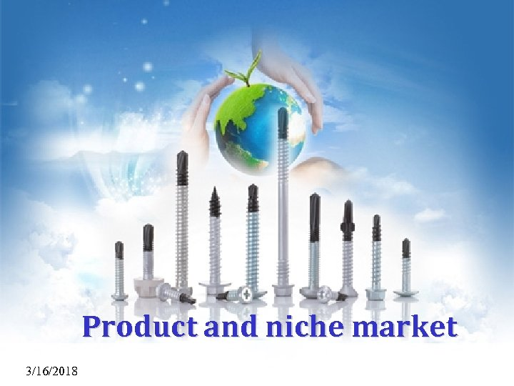 Product and niche market 3/16/2018