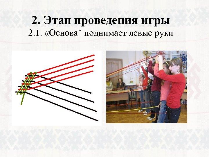 2. Этап проведения игры 2. 1. «Основа