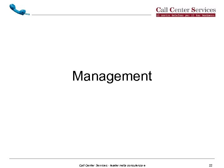 Management Call Center Services - leader nella consulenza e 22