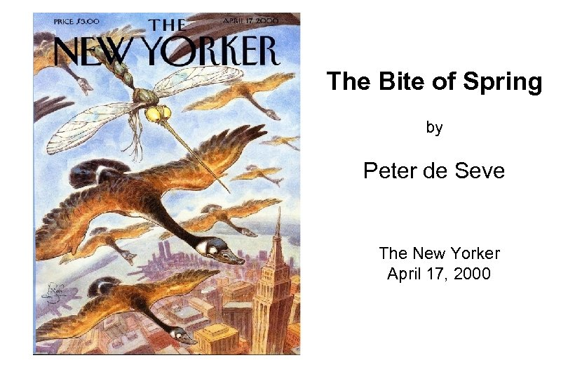 The Bite of Spring by Peter de Seve The New Yorker April 17, 2000