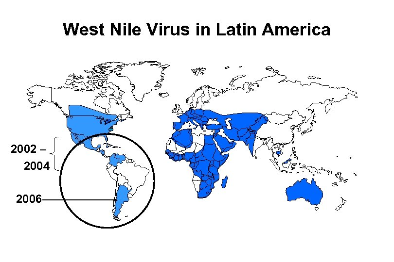West Nile Virus in Latin America 2002 – 2004 2006