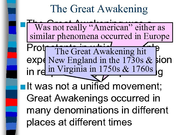 "The Great Awakening ■ The Great Awakening was a as Was not really ""American"""