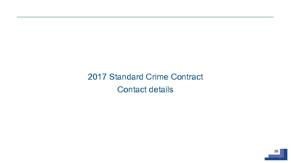 2017 Standard Crime Contract Contact details 59