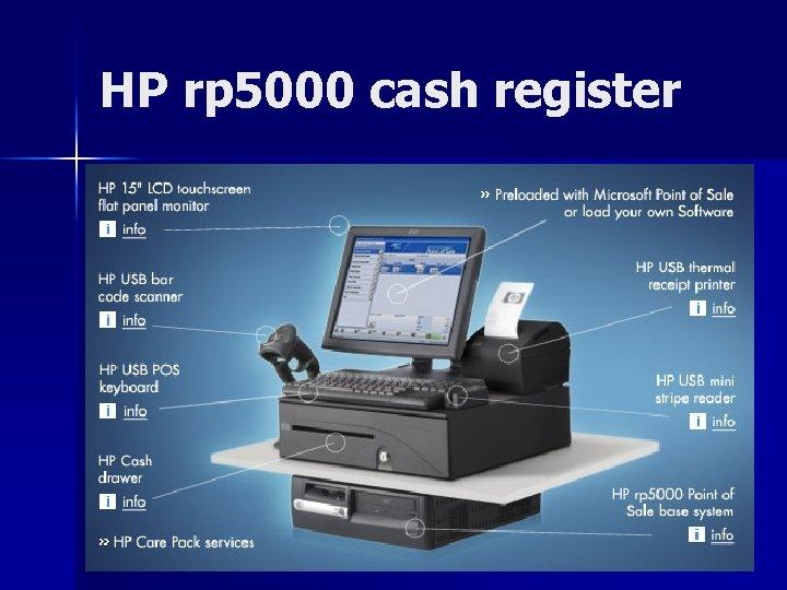 HP rp 5000 cash register