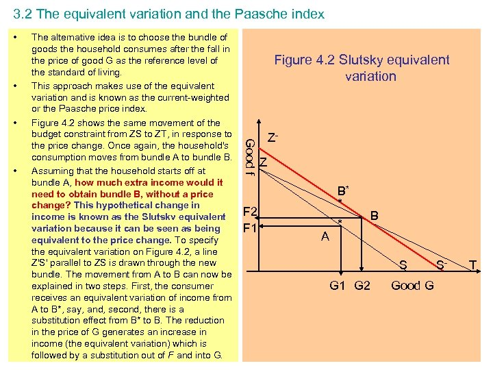 3. 2 The equivalent variation and the Paasche index • • • Figure 4.