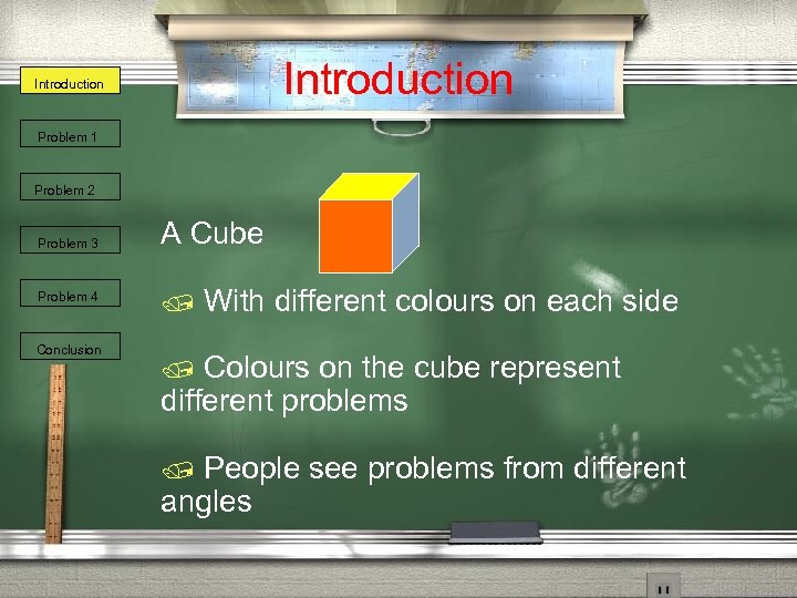 Introduction Problem 1 Problem 2 Problem 3 Problem 4 Conclusion A Cube / With