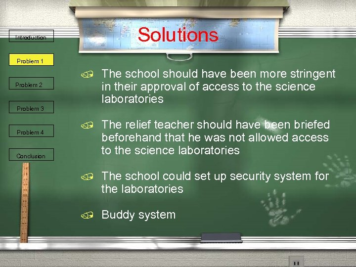 Solutions Introduction Problem 1 / The school should have been more stringent in their