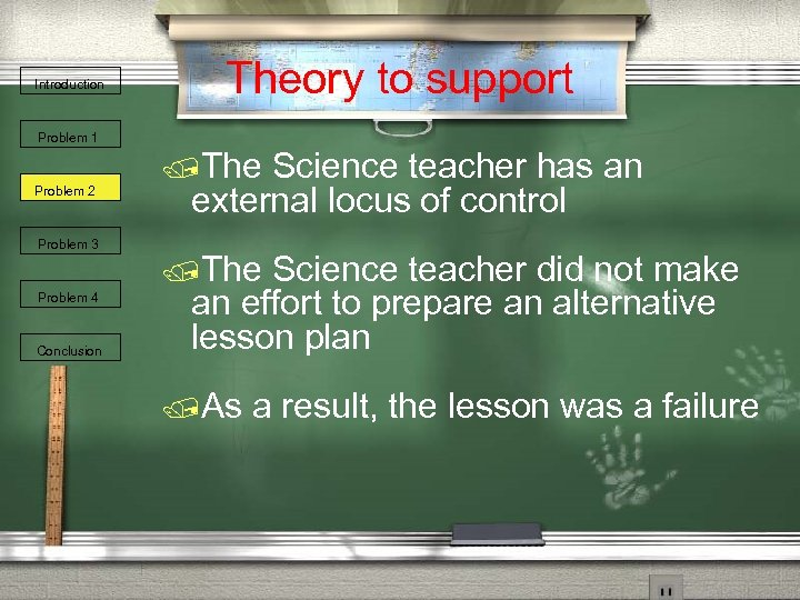 Introduction Theory to support Problem 1 Problem 2 Problem 3 Problem 4 Conclusion /The